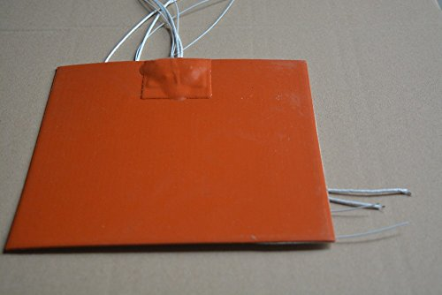 NJPOWER Silicone Heating pad Heater 250mmx300mm for 3D Printer Heat Bed