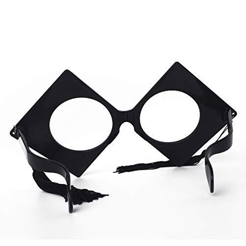 2019 Eyeglasses - WJBB Graduation Party Supplies Big Glasses 2019 Graduation Decorative Eyeglasses Frame Without Lens Graduation Party Props Costume Accessory (Black)