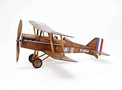 RAF SE5a WWI Bi-plane model airplane complete vintage model rubber-powered balsa wood aircraft kit that really flies! by Vintage Model Co. by Vintage Model Co.