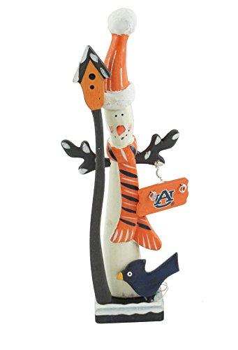 Hanna's Handiworks Auburn University Snowman Figurine (Santa Hat) ()