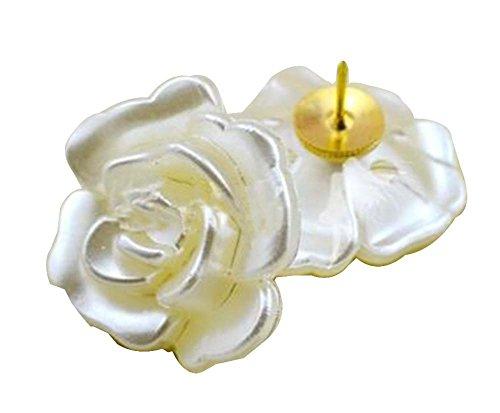 10 piezas lindo pasador push pin chincheta suministros de oficina [Flores]