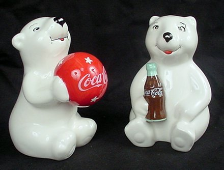 Coca Cola Dinner (Play Time Cubs Coke Polar Bear Salt & Pepper Shakers by Coca-Cola)