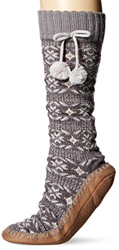 MUK LUKS Womens Slipper Socks with Poms