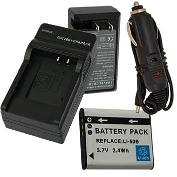 Amazon.com: Batería + Cargador para Olympus SP-800 UZ ...