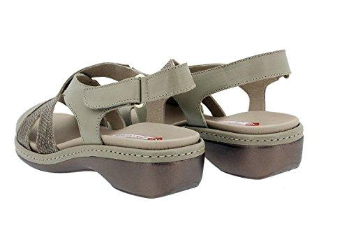 180813 Piel Chaussure PieSanto Semelle Visón Amovible Femme à Sandales Confort wZxq8xCI