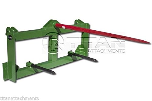 Titan Tractor Hay Spear Attachment for John Deere 3000 lb Capacity Front Loader (Attachments Loader Tractor)