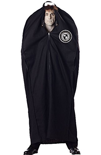 [Mememall Fashion Adult Men Metro Coroner Body Bag Halloween Costume] (Deluxe Plush Cow Mascot Costumes)