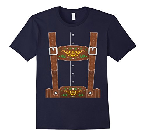 Mens Lederhosen Oktoberfest T-Shirt or Halloween Costume Large (Switzerland Un Costume)