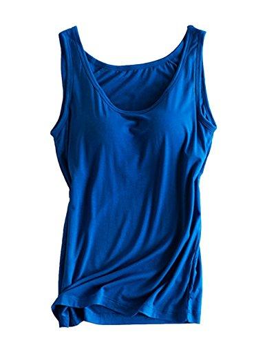 gorge Black Royal White femme Blue Soutien gilet Intégré Manches Alizeal Sans nxPawq47A