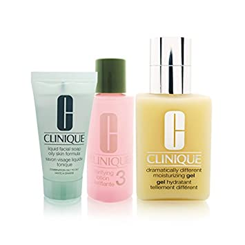 Clinique Dramatically Different Moisturizing Gel Great Skin, Great Deal  3-Step Skin Care System -
