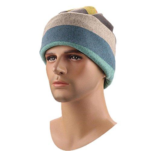 - Hunputa Mens Hat Winter, Mens Winter Warm Knitting Hats Wool Baggy Slouchy Beanie Hat Skull Cap Scarf (Multicolor)