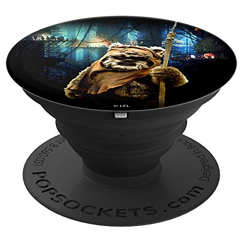 Star Wars Ewok Wicket Village Night Time Scenery - PopSockets Grip and Stand for Phones and Tablets