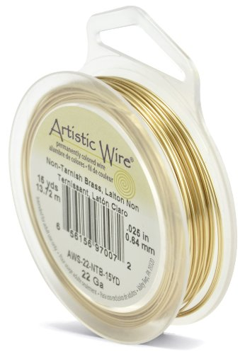 Artistic Wire 22-Gauge Non-Tarnish Brass Wire, 15-Yards ()