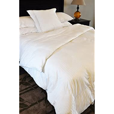 Natural Comfort Soft and Luxurious 310TC Sateen White Down Alternative Duvet Insert, Cal-king