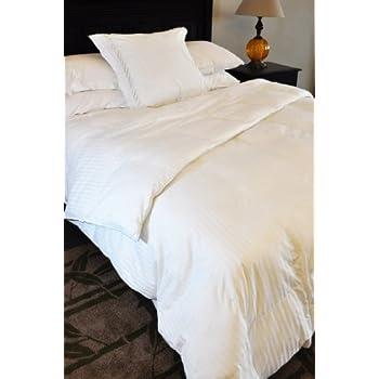 Natural Comfort Soft and Luxurious 300TC Sateen White Down Alternative Duvet Insert, Queen