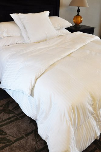 Natural Comfort Soft and Luxurious 300TC Sateen White Down Alternative Duvet...