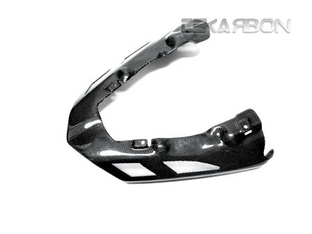 (2007 - 2008 Kawasaki ZX6R Carbon Fiber Exhaust Cover Vented)