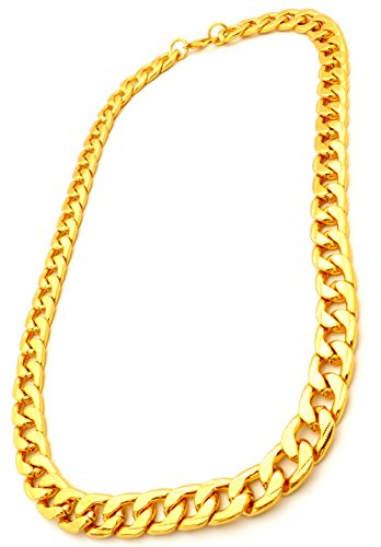 Goldkette gangster damen  Hip Hop Gangster Goldkette für Herren und Damen GoldenOne 9mm ...