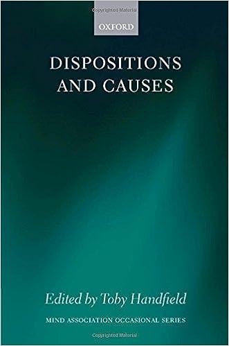 Google books et téléchargementDispositions and Causes (Mind Association Occasional Series) 0199558930 PDF