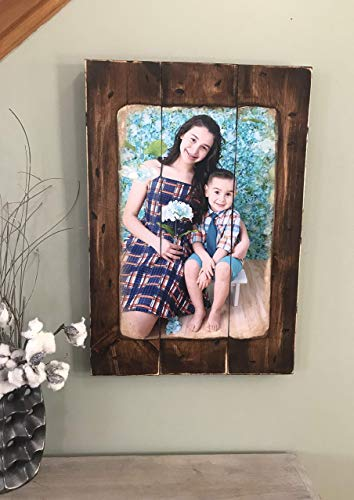 Photo on Wood Pallet Custom Personalized Picture on Wood Frame Rustic Wall Decor 16x24 10x14 10x12