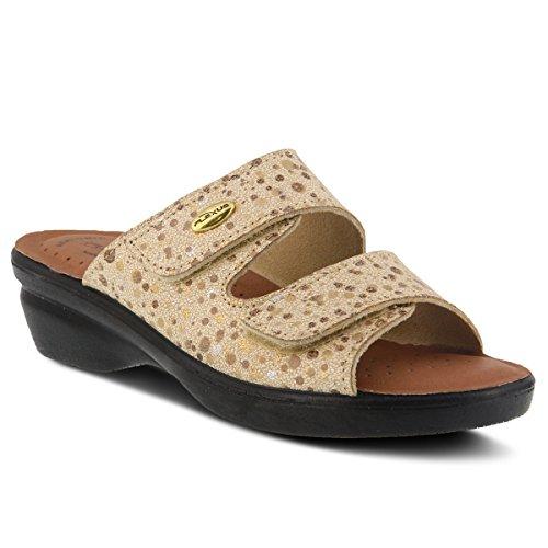 Sandalo Da Scivolo In Pelle Kina Stile Donna Flexus