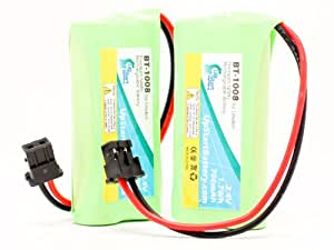 2x Pack - Uniden DECT 21803 Battery - Replacement for Uniden Cordless Phone Battery (700mAh, 2.4V, NI-MH)