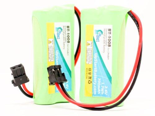 UpStart Battery 2x Pack - BT-1008 Battery for Uniden D178...