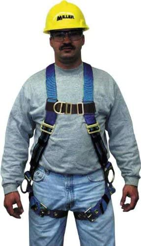 Small//Medium Miller by Honeywell P950D-4//S//MBL Duraflex Python Full-Body Ultra Harness with Mating Buckle Chest Strap Blue Sperian Protection Group