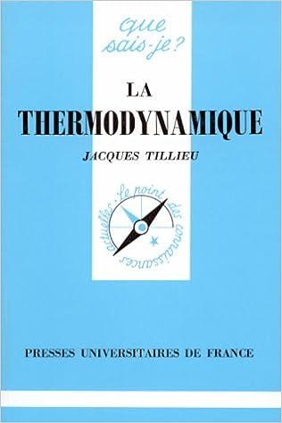 Lire un La thermodynamique : Théorie phénoménologique pdf