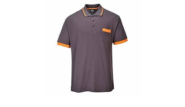 Portwest - Polo - para hombre gris/naranja small: Amazon.es: Ropa ...