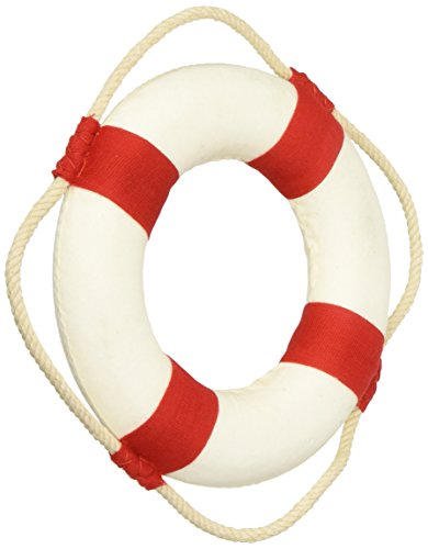 Hampton-Nautical-Classic-White-Decorative-Anchor-Lifering-with-Red-Bands-Christmas-Ornament-6