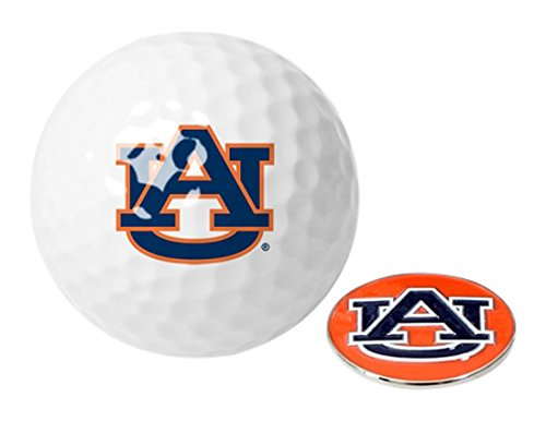 Tigers Logo Golf Balls (NCAA Auburn Tigers - Golf Ball One Pack with Marker)