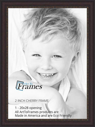 Amazoncom Arttoframes 20x28 20 X 28 Picture Frame Cherry Slope