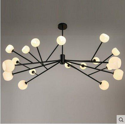 BLYC- Moderne minimalistische Schlafzimmer-Lampe kreative -Deckenleuchte Licht Nordic Seite Glas Bull Kunst Deckenleuchte , white