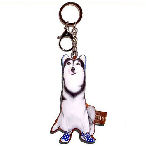 Sansukjai Key ring Key chain Siberian Husky Fabric Dog lover High 10 - Usa Locator Tiffany Store