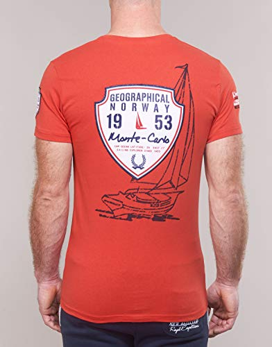 Norway Geographical Rouge Homme Jaro Tshirt 4fdfqT