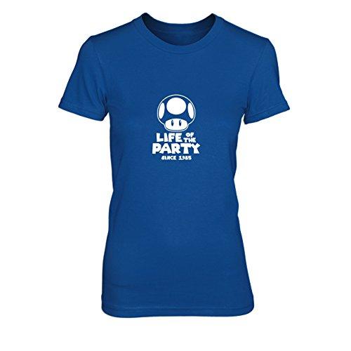 Party Pilz - Damen T-Shirt, Größe: M, Farbe: blau