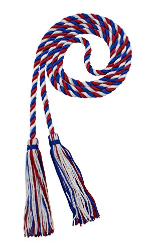 HONOR CORD ROYAL / RED / WHITE - TASSEL DEPOT BRAND - MADE IN USA