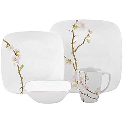 Click for Corelle Cherry Blossom Square Dinnerware Set (Serves 4) 16pc, Multicolored