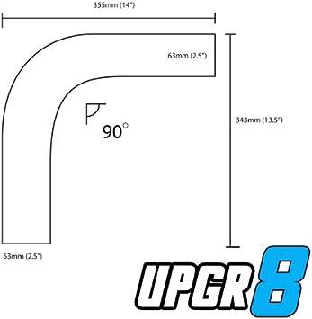 Upgr8 Universal Outside Diameter Polished Aluminum Pipe 3.5 89MM , 360 Degree