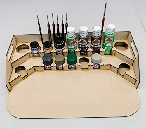 GameCraft Miniatures Painting Station - 36mm for Polly Scale, 10ml Tamiya and Similar Bottles