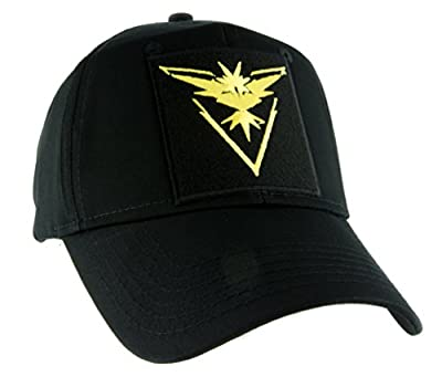 Team Instinct Yellow Pokemon Go Hat Baseball Cap Alternative Clothing