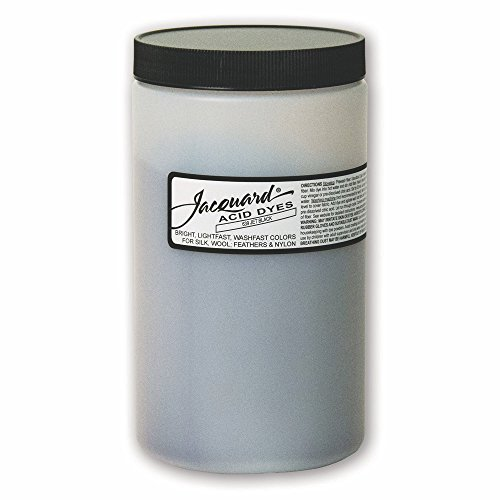 Jacquard Acid Dye for Wool, Silk and Other Protein Fibers, 1 Pound Jar, Concentrated Powder, Jet Black -