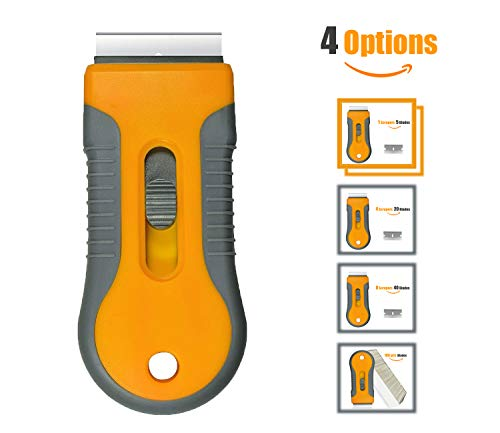 - Retractable Razor Blades Scraper for Window Film Glass Glue Removing w 5pcs Replaceable Razor Blades