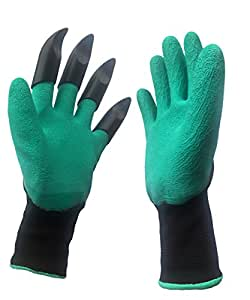 Ivovo garden genie gloves with claws quick and for Gardening gloves amazon