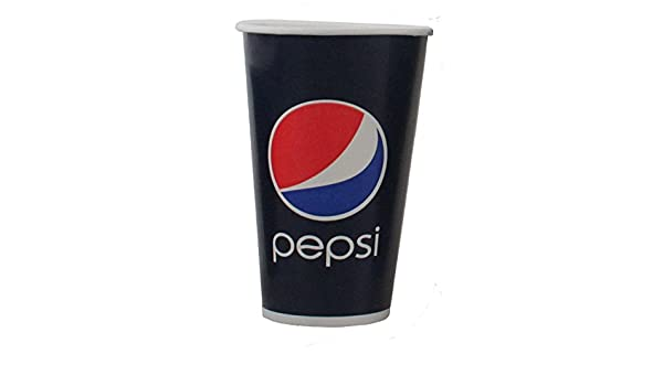 Pepsi, Cold Cup de beker, cartón en Coating, 300 ml, 10oz, 119 mm, Blauw/Rood: Amazon.es: Hogar