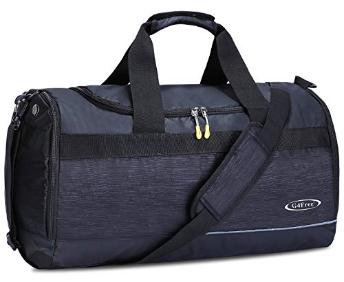 G4Free Duffel Bag 21 inch Sports Gym Bag with Shoes Compartment 40L Travel Duffle for Men,Women