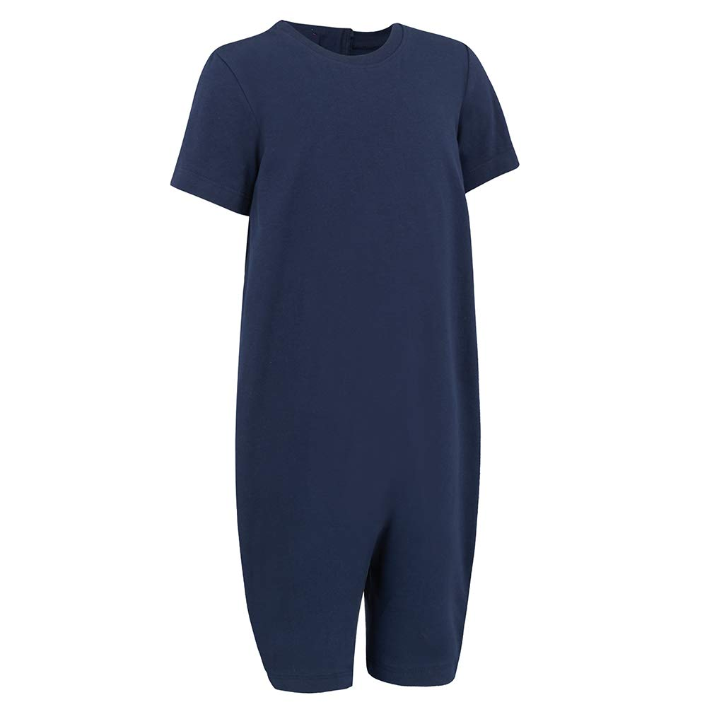 Special Needs Clothing for Older Children (3-16 yrs Old) - Zip Back Jumpsuit for Boys & Girls by KayCey - Navy (3-4 Years Old) by SpecialKids.Company