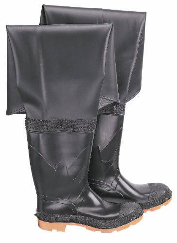 ONGUARD 86055 PVC/Polyester Men's Plain Toe Hip Wader with Cleated Outsole, 32