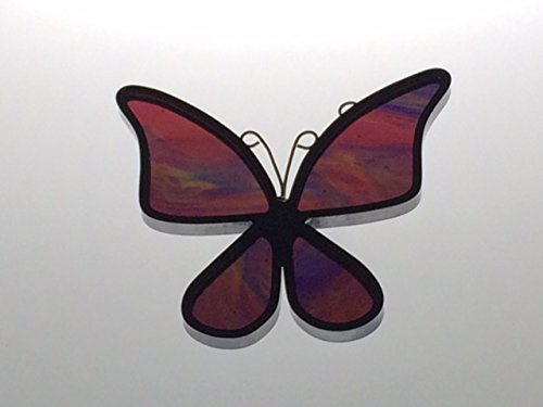 Handcrafted Rainbow Butterfly Suncatcher Stained Glass Ornament